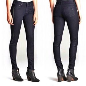 Rag and Bone bomber legging jeans skinny midnight